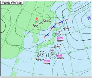 160821天気図